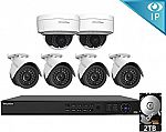 LaView 6 1080P IP Camera Security System with 4 IP Bullet and 2 IP Dome Cameras) $415