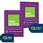 H&R Block Tax Software:  $15 Off + Free $10 Best Buy Gift Card