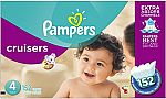 Pampers Cruisers Disposable Diapers Size 4, 152 Count + 320Ct Pampers Wipes $33