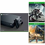 Xbox One X 1TB Console + Destiny 2 + Assassin's Creed Origins $499