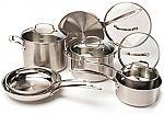 Cuisinart 12-Piece Stainless Steel Cookware Set $130 (72% Off)