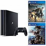 Playstation 4 Pro 1TB console + Monster Hunter : World + Titanfall 2 $399