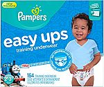 164 Count Pampers Easy Ups Training Pants Pull On Disposable Diapers for Boys Size 4 (2T-3T) $30