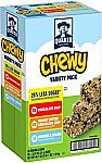 58-Count Quaker Chewy Granola Bars, 25% Less Sugar Variety Pack $6.42