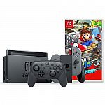 Nintendo Switch + Nintendo Switch Pro Controller + Super Mario Odyssey $399