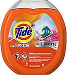 61-Count Tide PODS Plus Downy 4 in 1 HE Turbo Laundry Pacs (April Fresh) $13.64