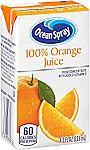 40-count Ocean Spray 100% Orange Juice, 4.2 Ounce Juice Box $8.42