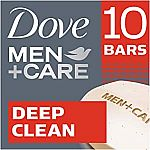 10-Count Dove Men+Care Body & Face Bar (Deep Clean) $8 or Less