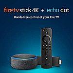 Fire TV Stick 4K bundle with all-new Echo Dot (3rd Gen) $79.99