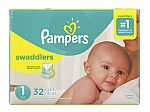Pampers Swaddlers Diapers + $10 Back in Points $36.25 (Size 1 to 5) + Free Shipping
