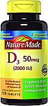 Nature Made Vitamin D3 2000 IU 100-Count Tablets $2.39 & more
