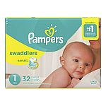 Pampers Swaddlers Diapers (160ct Size 1 + Various Sizes) +10,000pts Balance Rewards $36.25