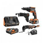 Home Depot - Free RIDGID Tool with a Battery Purchase ($199)