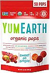 50-Count YumEarth Organic Lollipops (Assorted Flavors) $5 or Less