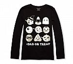 Girls Foil Dancing Emoji Graphic Tee $1.99, 50% Off Holiday Dressups and more