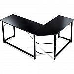 Luxxetta L-Shaped Office Computer Desk $80