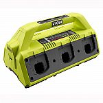 Ryobi 18-Volt ONE+ 6-Port Dual Chemistry IntelliPort Super Charger with USB Port $59