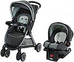 Graco FastAction Travel System Stroller + Car Seat $129