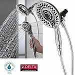 Delta In2ition 5-Function Handheld 2-in-1 Dual Shower Head (Chrome) $30 (org $100) + Free Shipping