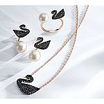 Swarovski Iconic Swan Small Pendant Necklace $63 & More Swarovski UP to 25% Off + Free Shipping