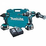 Makita Brushless Cordless Hammer Drill/Impact Driver Combo Kit (2-Piece) with (2) 4.0Ah Batteries, Case $234.81