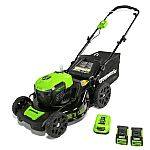 Greenworks 40V Brushless Cordless Mower with Two 2.5 Batteries and Charger $195 (Org $400)