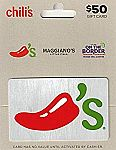 $50 Brinker Gift Card (Chili's, On The Border and Maggiano's) $40