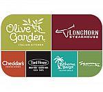 $50 Darden Restaurants Gift Card $40