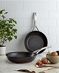 "Anolon Nouvelle Hard-Anodized Copper 8.5"" & 10"" Skillet Set $28 (org $180)& More"