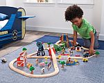 KidKraft Farm Train Set (75-Piece) $30