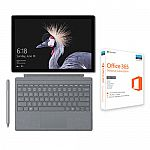 Surface Pro i5 8GB 128GB & Platinum Type Cover + Surface Pen + Office 365 Bundle $799