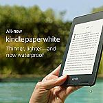 All-new Kindle Paperwhite $129.99 (Waterproof, 2x Storage + 6mo Kindle Unlimited FREE)