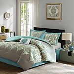 6-Piece Madison Park Maya Comforter Set (King or Queen) $21 and more