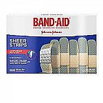 """100-Count Band-Aid Brand Sheer Bandages (3/4"""" x 3"""") $2.60"""