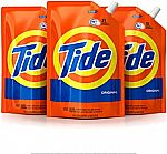 3-Pk of 48-oz Tide Liquid Laundry Detergent Smart Pouch (Original Scent, HE Turbo Clean,) $15 or Less