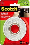 Scotch Indoor Mounting Tape, 1/2-inch x 75-inches, White, 1-Roll (110P) $1.50