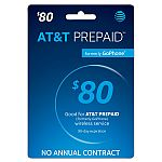 $80 AT&T Prepaid Card $62.40 (Email Delivery)