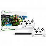 Xbox One S 1TB Minecraft Bundle + Extra Xbox Wireless Controller $274.99