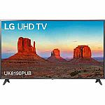 "75"" LG 75UK6190PUB 4K HDR Smart LED TV $999"