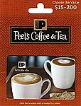 $50 Peet's Coffee & Tea Gift Card $40