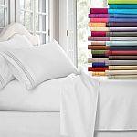Egyptian Comfort 1800 Count 4-pc Deep Pocket Bed Sheet Set $12