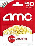 (9am) $50 AMC Theatre Gift Card $40