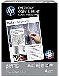 "(1 Ream) 400-Sheet HP Printer Copy & Print Paper, 20lb, 92 Bright, 8.5"" x 11"" $1.43"