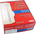500-Count Top Flight #10 Envelopes, Strip & Seal, Security Tinted $12.43 + Free Shipping