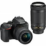 Nikon D5600 DSLR Camera with 18-55mm and 70-300mm Lenses $697