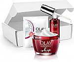 Olay Regenerist Skin Smoothing Regimen Kit, Whip Moisturizer + Face Booster + Bonus Wipes $44 and more