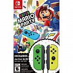 Super Mario Party Neon Green/Neon Yellow Joy-Con Bundle Preorder $100