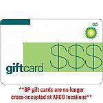 $100 BP /ChevronTexaco /ExxonMobil Gas Physical Gift Card $95 and more