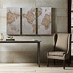 Madison Park World Map Canvas Wall Art 3-piece Set $21 (Kohl's card required)