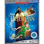 Peter Pan (Anniversary Edition) (Blu-ray + DVD + Digital Code) $11.65